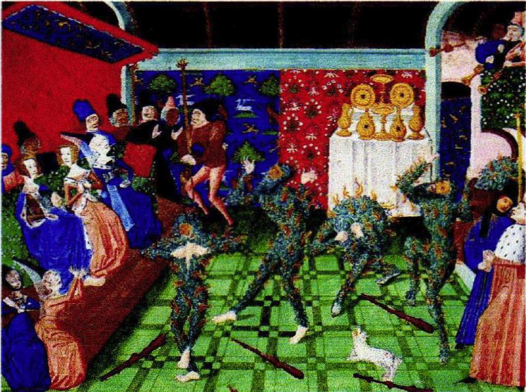 The Ball of the Enthusiasts by Jean Froissart , era 1400