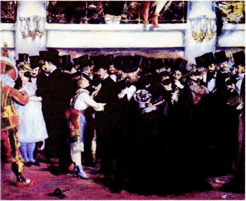 The Masked Ball at the Opera by Edouard Manet, 1873