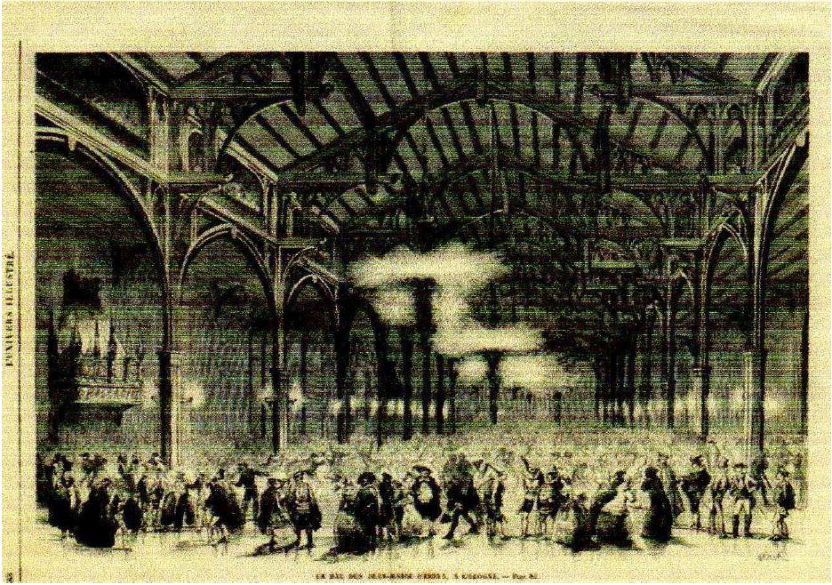 The Ball of Giovanni Maria Farina at Cologne, L'Univers Illustre, 1861